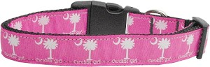 Carolina Girl Nylon Ribbon Dog Collars Large